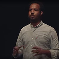 Abdullahi Hussein tells his story on stage